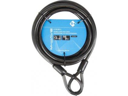 lanko zámku  M-Wave 10x5000mm prodlužovací černý