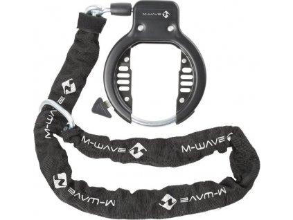 zámek  M-Wave rámový-podkova s řetězem černý