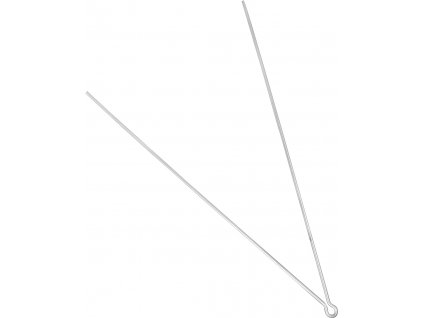 vzpěra k blatníku, délka 36 cm, stříbrná