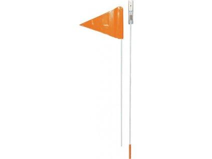 Bezpecnostní praporek na tyci 2-dílná oranžová, pripevnení na osu