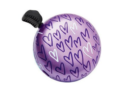 zvonek ELECTRA Bell Domeringer XOXO fialový