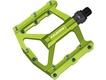 pedály BMX EXUSTAR PB557 zelené
