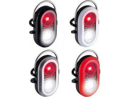 SIGMA Blikačka MICRO DUO, dual LED - strieborná, 2 LED