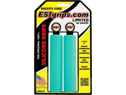 gripy ESI Racer's Edge světle tyrkysové