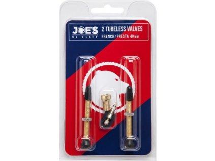 ventilek Joes Tubeless Presta Valves 2ks 40mm