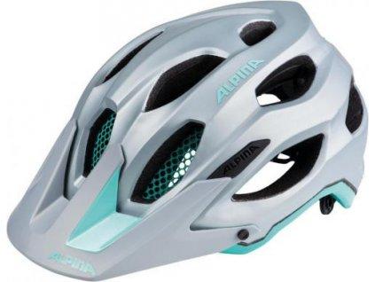 Cyklistická prilba ALPINA Carapax sivo-smaragdová