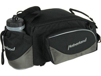 Brašna na nosic  Haberland Flexibag L cerná/šedá, 39x16x25cm, 16l, UniKlip