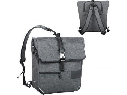Batohová taška Norco Portree tweed-šedá,38x36x13cm, cca 1250g  0239UB