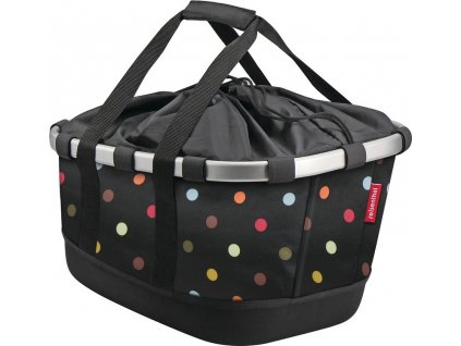 City-brašna KLICKfix Bikebasket na nosic dots, 33x27x42cm, pro Racktime