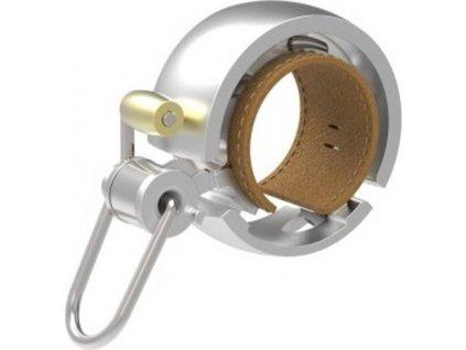 zvonek Knog Oi Bell LUXE stříbrný malý