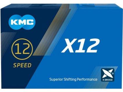 řetěz KMC X12 stříbrný 126čl. BOX