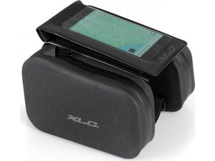 XLC brašna na rám vodeodolná cerná 40x6x23cm s obalem na mobil