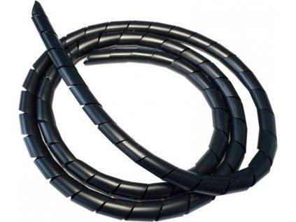 Spiral.páska cerná flexibilní 5m role ØØØ 6 mm lze zkrátit