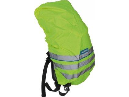 Obal na batoh s reflex.proužky pro deti neon.žlutá reflexní