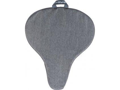 Potah na sedlo Basil grey/melee, 28x23x1cm