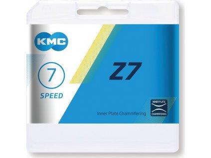 """Retez KMC Z7 šedá/hnedá 1/2"""" x 3/32"""", 114 clánku,7,3mm,6/7-st."""