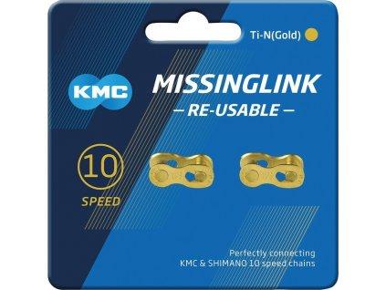 Missinglink KMC 10R Ti-N Gold 2 ks, pro retezy 5,88mm, gold, 10-st.
