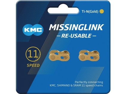 Missinglink KMC 11R Ti-N Gold 2 ks pro retezy 5,65mm,11-st.,re-usable