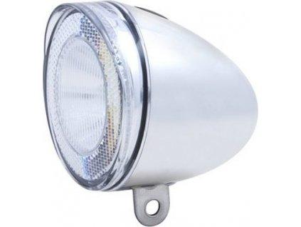 Svetlo predné SWINGO 1 LED chrómové s držiakom