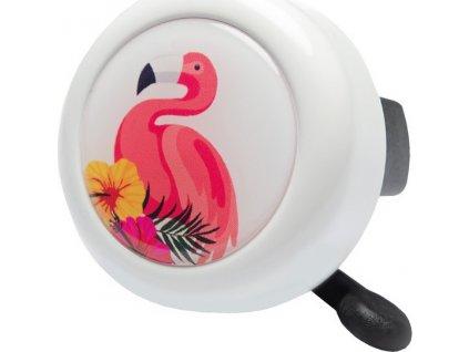 Zvonek s motvem Reich Flamingo 55mm, bílá, SB-Karta