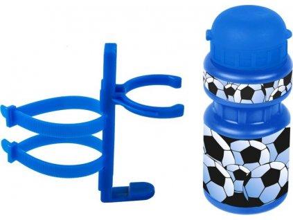 lahev Ventura dětská + držák Fotbal modrá
