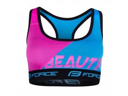 Podprsenka športová FORCE BEAUTY modro-ružová