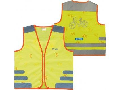 Bezpecnostní vesta Wowow Nutty Jacket pro deti žlutá s reflex.proužky vel.M