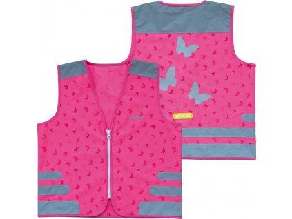 Bezpecnostní vesta Wowow Nutty Jacket pro deti pink s reflex.proužky vel.L