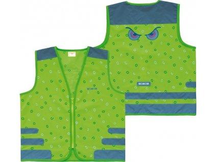 Bezpecnostní vesta Wowow Nutty Jacket pro deti zelená s reflex.proužky vel.L