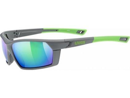 brýle UVEX Sportstyle 225 šedo/zelené