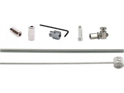 XLC Brzdové lanko-sada pro kotouc.brzdy 1700/2250mm 1 nipl stríbrná