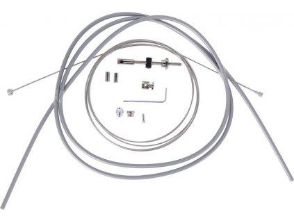XLC Brzdové lanko pro bubnovou brzdu 17000/2350mm 2 nipl stríbrná