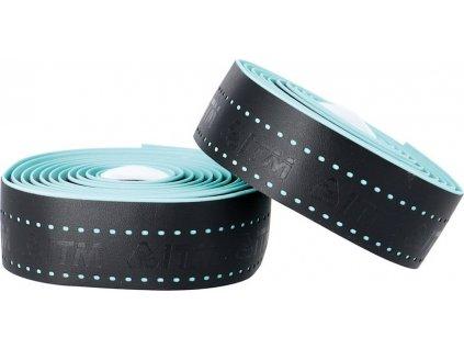 Páska na rídítka ITM EVA derovaná cerná, sv.modré otvory