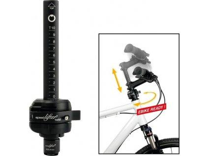 Nastav.rídítek Speedlifter Twist T15 Ø25,4mm, objímka 39,5mm, cerná, 15cm