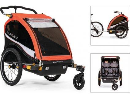Detský vozík za kolo Burley Cub X Atomic Red