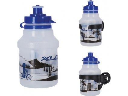 XLC láhev detská WB-K07 350ml vcetne držáku 'skyline'