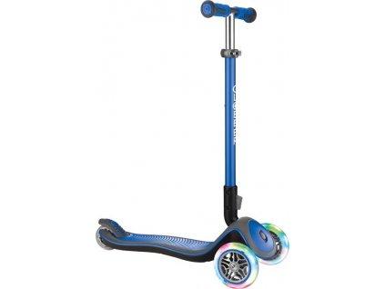 Scooter Globber Elite Lights Deluxe námornická-modrá mit svítící kolecka