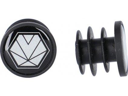 XLC Zátky do rídítek GR-X04 cerná, reflex