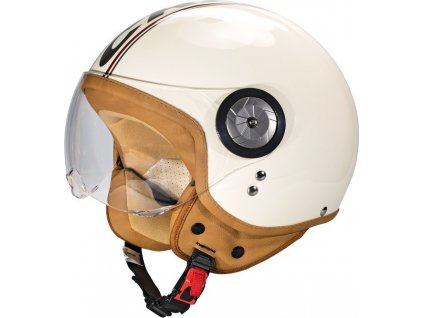 Helma na motorku Cratoni Milano vel.L (59-60cm) krémová lesklá