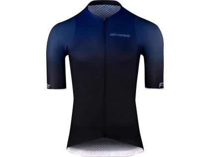 dres F TEAM PRO BLUE, krátký rukáv, modrá XS