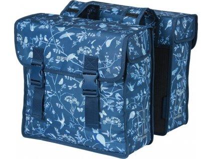 Dvojitá taška Basil Wanderlust indigo-modrá, 36x14x41cm