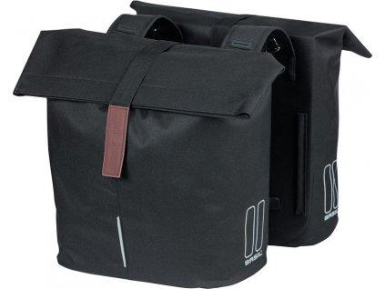 Dvojitá taška Basil City cerná, 30x18x49cm