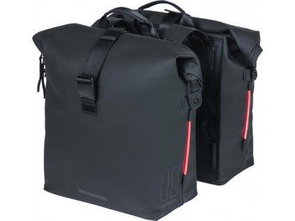 Dvojitá taška  Basil SoHo Nordlicht cerná, 31x13x37cm