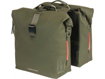 Dvojitá taška  Basil SoHo Nordlicht mechove zelená, 31x13x37cm