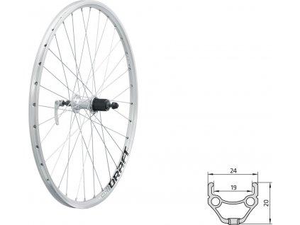 """Zapletené koleso zadné KLS DRAFT R, 26"""", silver"""