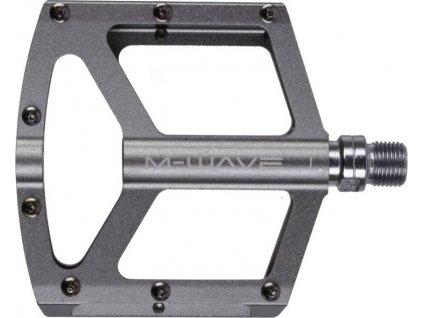 """pedály BMX FLAT standard závit 9/16""""  titanově šedé"""