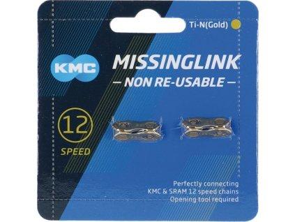 Clánek retezu KMC 12NR Ti-N zlatá 2 ks pro retezy 5,65mm, zlatá, 12-st