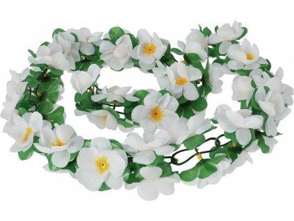 Kvetinová girlanda Basil bílá, délka cca. 130cm