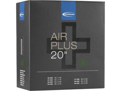 "Duše Schwalbe AV 7AP  Air Plus 20x1.75-2.35"" 40/62-406 IB AGV 40mm"