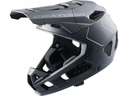 Cykl.helma Cratoni Interceptor 2.0 Vel. S/M (54-58cm) cerná mat.